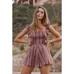 TJD The Jetset Diaries Young Heart Romper M Ruffle
